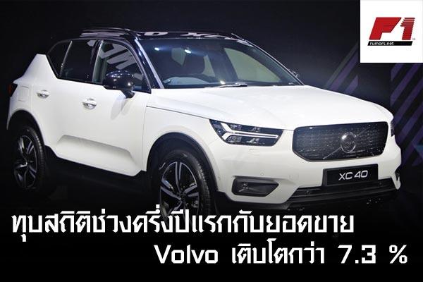 ทุบสถิติช่วงครึ่งปีแรกกับยอดขาย Volvo เติบโตกว่า 7.3 %