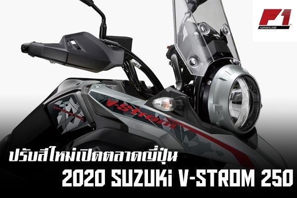 ปรับสีใหม่เปิดตลาดญี่ปุ่นกับ 2020 Suzuki V-Strom 250