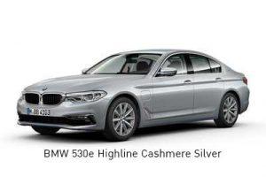 BMW 530e Highline Cashmere Silver